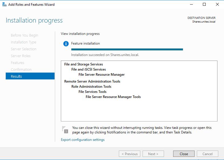 Установка File Server Resource Manager шаг 2