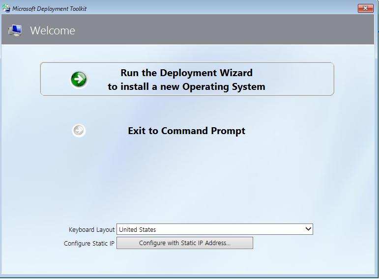 Run the Deployment Wizard
