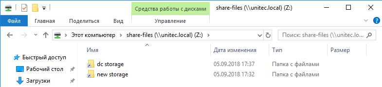 list folder